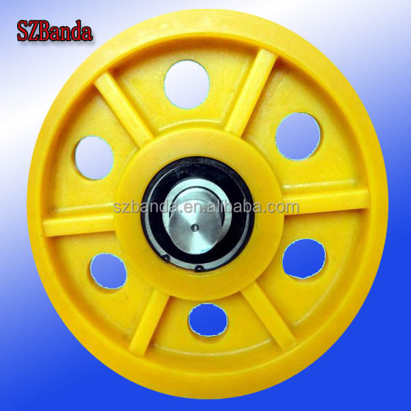Rope And Pulley Elevator : Nylon rope sheave pulley elevator