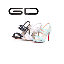 GD new arrival high-heeled sandal shoes with ankle strap stiletto sandal for lady