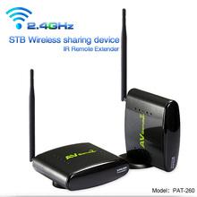 Long Range Wireless AV Audio Video TV Sender Transmitter Receiver With IR Remote Repeater 350m (Black)