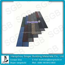 3-Tab Colorful(Cheteau green/China red/Harbor blue)Fiberglass Asphalt Roofing Shingle