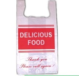 Restaurant Food Pick up Plastic Package T shirt Bag