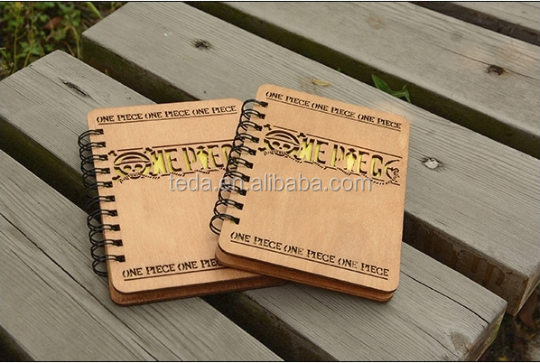 wood notebook gift