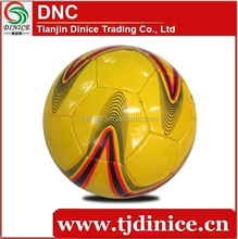 Professional Yellow Size 5 PU Football Giving Good Luck To Your Feet