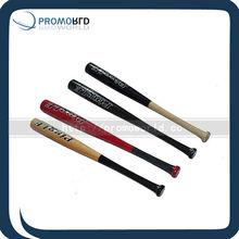 Color todas mached bate de béisbol de madera de pino de béisbol barato