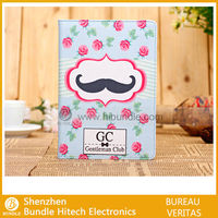 Cute cartoon stand leather case for ipad mini made in china
