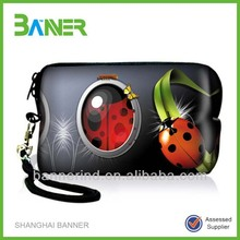 Fashional rectangle neoprene pocket coin purse/ woman small handbag