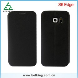 PU leather case For Galaxy S6 Edge , for Galaxy S6 Edge ultra thin case
