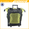 600D Polyester School Trolly Backpack Green Color