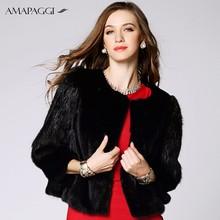 Natural Short Women Black OEM Mink Fur Jacket For Winter