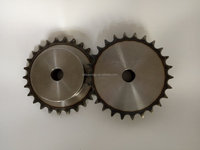 1045 stell specification standard chain sprocket with bush for machinery from China manufacture
