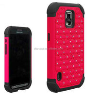 wholesale phone case crystal full star defender combo hard case for LG G2