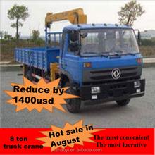 Dongfeng 4 * 2 camión de carga con sistema hidráulico camiones grúa chasis EQ5160 venta