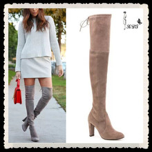Over The Knee Thigh High Boots Ladies Military Boot High Heel Shoes Woman Boot 2014