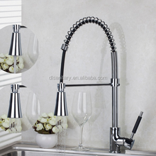 new design Kitchen Pull Out Down Chrome Brass Swivel With Push Button Vessel Sink Mixer Tap new design Kitchen Faucet
