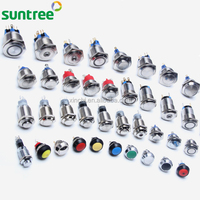 stainless steel Non-illuminated or ring Illuminated waterproof push button 1NO 1NC Momentary or Latching diameter 16mm 19mm 22mm