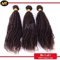 Wholesale cheap virgin unprocessed kinky curly brazilian chocolate hair