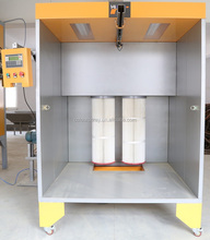 Manual powder spray booth system for small batches