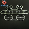 Motorcycle Decoration Accessories Aluminum Ultra Classic Stereo Accent Speedometer Speaker Trim Ring Set Fit To Harley
