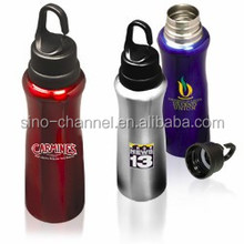 China Made Promotional Hook Cap Sturdy Stainless Steel Bottle