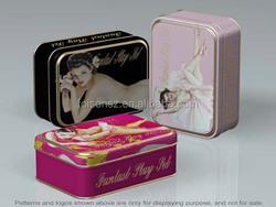 colorful rectangular tin box