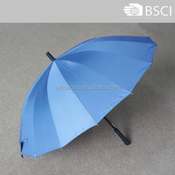 Wholesale 23 inch 16 fulted metal umbrella ribs with pongee fabric