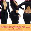 wholesale black sexy image hot women bodycon dress