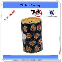 wholesale customize Coin Can Money Box Tin Can Coin Bank Collection Boxes