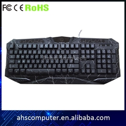 Arabic English French German Greek 7 color LED backlight gaming computer keyboards