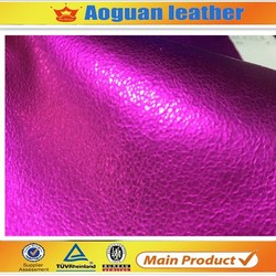 pu covering material fashion Metallica style materials for making shoes A1690