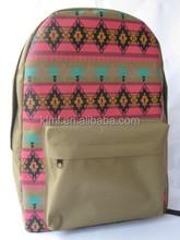 Amazing printing school backpack for girl