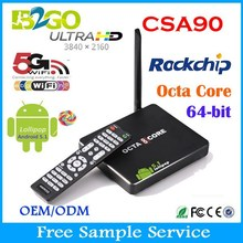 Newest CSA90 Android 5.1LOLLIPOP tv Box rk3368 Octa core support google Play & APK install