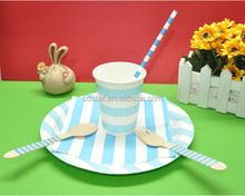 Birthday Party Supplies Paper Straws Plates Napkins Cups Forks Knife Set