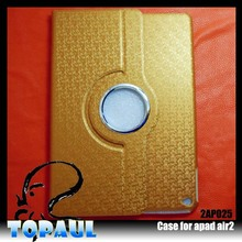 Popular leather hard cover for ipad air 2 case, 360 degree rotating case for ipad air2