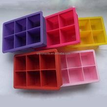 Customized hot-sale bpa free silicone ice cube trays novelty