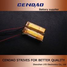 OEM li-polymer battery 3.7V 320mah small li ion battery 1S2P 3.7V li-ion polymer battery 160mah
