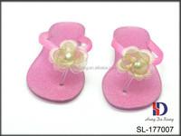 Sandals Women Summer Beach Shoes, Flat Jelly Sandals With Giltter