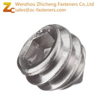 18-8 Stainless Steel Set Screw/ Plain Finish/ Hex Socket Drive/Cone Point/ Meets ASME B18.3/ASTM F880/Right Hand Threads/Inch