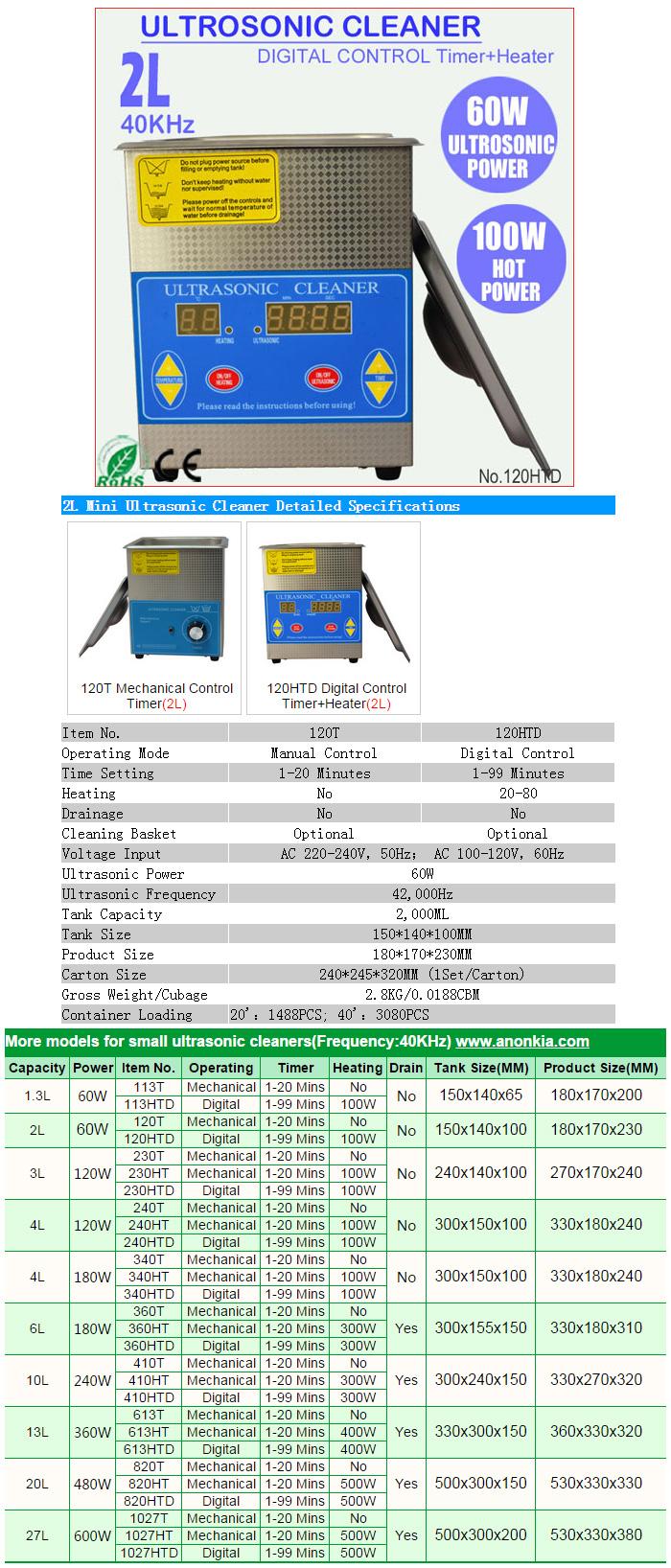 2l ultras nico climatizada digital ba o de agua limpiador for Bano ultrasonico precio