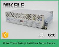 T-100C 5v/15v/-15v dc 100w triple output switching power supply