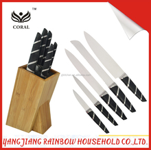 Best Selling Hollow Handle Stainless Steel Kitchen Knives Set with Stainless Steel Block
