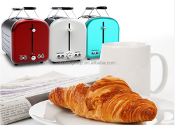 BSCI approved home appliance 2016 new design Retro design 2 slice stainless steel toaster/ bun warmer toaster/ pop up toaster