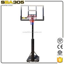portable steel pole lifetime basketball stand