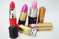 Real capacity lipstick model USB 2.0 Memory Stick Flash pen Drive 128MB 8GB 16GB 32GB Free shipping