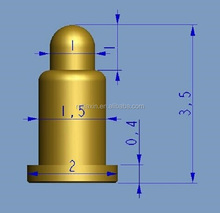3.5mm Spring pin connector,POGO PIN,spring loaded pogo pin for gold plating