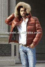 2015 Moda Red invierno Abajo chaqueta para los hombres