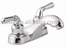 Brass Double Handle South America 4 Inch Lavatory Tap