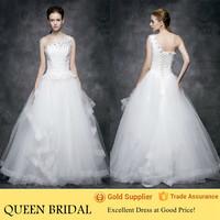 Newest Ruffled One Shoulder Designer Wedding Dresses Wedding Gown in Karachi