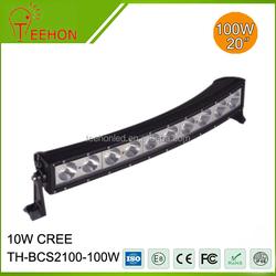 Teehon 100W curved led bar light led driving light bars