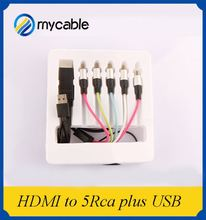 Professional oem 2.0v hdmi vga 5 rca cable with USB and 1080p 3D ethernet