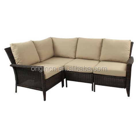 outdoor rattan sectional seat with corner chair small